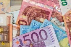 Fondo del euro mezclado de las porciones Imagen de archivo libre de regalías