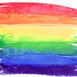Fondo del extracto del arco iris de la acuarela, textura pintada a mano Diseñe para los fondos, los papeles pintados, las cubiert stock de ilustración