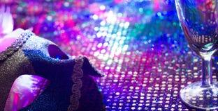 Fondo del extracto del carnaval del Año Nuevo de la celebración de días festivos en concepto de la noche Fotos de archivo libres de regalías
