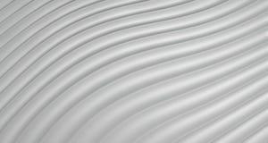 fondo del extracto 3D de Grey White Curve Lines, ejemplo Foto de archivo libre de regalías