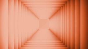 fondo del extracto de la animación 3D bajo la forma de torcer líneas en un círculo con el acercamiento delantero y la distancia ilustración del vector