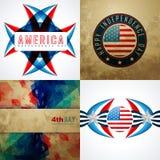 Fondo del extracto de la bandera americana con el ejemplo creativo stock de ilustración