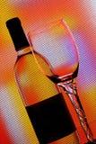 Fondo del extracto de la cristalería del vino Imagen de archivo