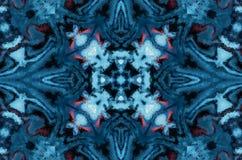 Fondo del extracto de la fantasía del invierno Ornamento geométrico caleidoscópico Modelo de mosaico poligonal decorativo stock de ilustración