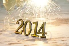fondo del extracto de la Feliz Año Nuevo 2014 Fotografía de archivo libre de regalías