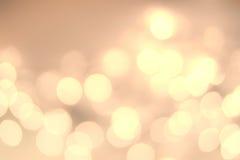 Fondo del extracto de la luz suave Luces Defocused del centelleo de Bokeh fotografía de archivo