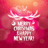Fondo del extracto de la Navidad y del Año Nuevo con Fotos de archivo