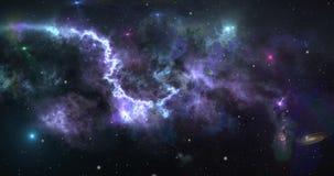 Fondo del extracto de la nebulosa del cosmos de la galaxia Concepto de viaje espacial, de exploración y de creación del universo almacen de metraje de vídeo