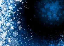 Fondo del extracto de la nieve de Navidad Fotos de archivo