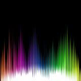 Fondo del extracto de la onda del equalizador de los sonidos Vector Fotos de archivo libres de regalías