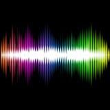 Fondo del extracto de la onda del equalizador de los sonidos Vector Imagenes de archivo