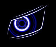 Fondo del extracto de la tecnología del ojo azul Fotografía de archivo