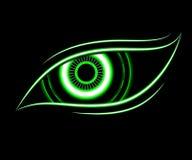 Fondo del extracto de la tecnología del ojo verde Foto de archivo libre de regalías