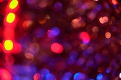 Fondo del extracto de la textura de Bokeh de las luces de la guirnalda fotografía de archivo libre de regalías