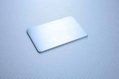 Fondo del extracto de la textura del metal con una placa Foto de archivo libre de regalías