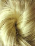 Fondo del extracto de la textura del pelo rubio Imagen de archivo libre de regalías