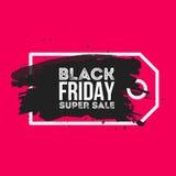 Fondo del extracto de la venta de Black Friday Precio de la etiqueta del cepillo de la acuarela del Grunge Ejemplo del vector par Foto de archivo libre de regalías