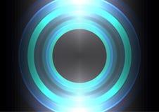 Fondo del extracto del círculo de la onda de la frecuencia Foto de archivo