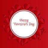 Fondo del extracto del día de tarjeta del día de San Valentín Fotografía de archivo libre de regalías