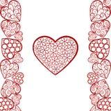 Fondo del extracto del día de tarjeta del día de San Valentín Foto de archivo