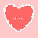 Fondo del extracto del día de tarjeta del día de San Valentín con el corazón de papel cortado Fotografía de archivo libre de regalías