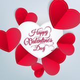 Fondo del extracto del día de tarjeta del día de San Valentín EPS 10 Foto de archivo