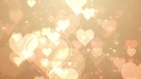 Fondo del extracto del día de tarjeta del día de San Valentín, loopable almacen de video