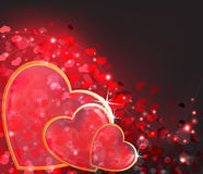 Fondo del extracto del día de tarjetas del día de San Valentín. Fotos de archivo libres de regalías