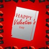 Fondo del extracto del día del ` s de la tarjeta del día de San Valentín Imagen de archivo