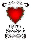 Fondo del extracto del día del ` s de la tarjeta del día de San Valentín Foto de archivo
