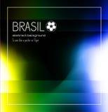 Fondo del extracto del fútbol del Brasil para el cartel Fotos de archivo