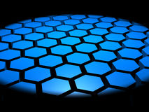 fondo del extracto del hexágono 3D Imágenes de archivo libres de regalías