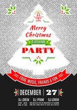 Fondo del extracto del vector del diseño del cartel de la fiesta de Navidad Imágenes de archivo libres de regalías