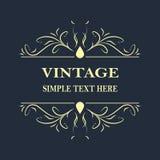 Fondo del extracto del ejemplo del vector del marco del vintage para su diseño Fotos de archivo libres de regalías