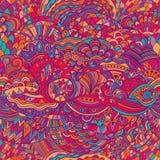 Fondo del extracto del modelo del vector con el ornamento colorido Ejemplo del drenaje de la mano, zentangle del libro de colorea ilustración del vector