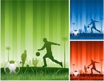 Fondo del fútbol Imagen de archivo libre de regalías