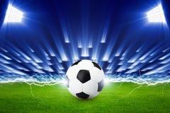 Fondo del fútbol Fotografía de archivo libre de regalías
