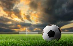 Fondo del fútbol foto de archivo libre de regalías