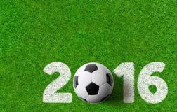 Fondo 2016 del fútbol Foto de archivo libre de regalías