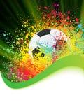 Fondo del fútbol con el copyspace. EPS 8 Fotos de archivo libres de regalías
