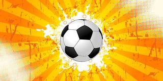 Fondo del fútbol de Grunge Fotos de archivo libres de regalías
