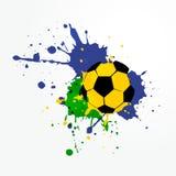 Fondo del fútbol del estilo del Grunge Fotos de archivo libres de regalías