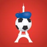 Fondo del fútbol/del fútbol de Francia Vector creativo Imágenes de archivo libres de regalías
