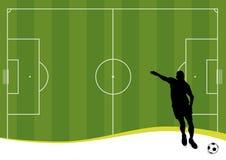 Fondo del fútbol (vector) libre illustration