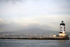 Fondo del faro - puerto de Los Ángeles Imagen de archivo libre de regalías