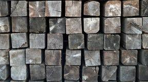 Fondo del fascio di legno quadrato Fotografie Stock