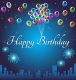 Fondo del feliz cumpleaños stock de ilustración