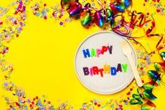 Fondo del feliz cumpleaños, del partido o del carnaval o wi del concepto del partido Imagen de archivo