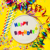 Fondo del feliz cumpleaños, del partido o del carnaval o wi del concepto del partido Imagenes de archivo