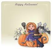 Fondo 3 del feliz Halloween stock de ilustración
